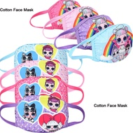 Cartoon LOL Surprise Doll 3D Printed Face Mask Breathable Design Kids Baby Girls Masks Anti Dust Face Mask