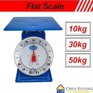 Flat Scale Commercial Mechanical Weighing Scale Analog Scale Timbang Penimbang 10kg 30kg 50kg OkQw