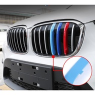 19款BMW寶馬新x1改裝中網三色條格柵卡扣裝飾貼x1前臉專用配件