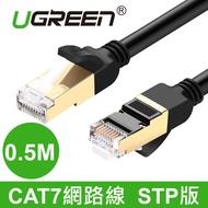綠聯 0.5M CAT7網路線 STP版 黑色