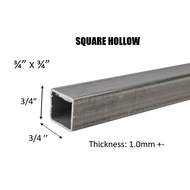 "MILD STEEL/ BESI HOLLOW (BESI) 3/4"" SQUARE HOLLOW - (TEBAL 1.0MM +-)#BS #DIY"