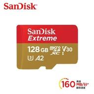 【SanDisk 晟碟】Extreme microSDXC UHS-I V30 A2 128GB 記憶卡 公司貨