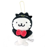 小禮堂 酷企鵝 海豹 玩偶吊飾 絨毛 娃娃 吊飾 掛飾 鑰匙圈 (黑白 頑皮海豹)