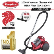 Europace 2000W Multi-Cyclone Vacuum Cleaner - FREE PARQUET BRUSH(WORTH $29.90)