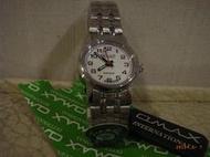 [黎黎屋]OMAX藍寶石水晶玻防水不銹鋼手錶