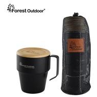 Forest Outdoor SUS304 不鏽鋼套杯 四入附杯架 含蓋子  隔熱杯組 真空 食用級 鋼杯 【露戰隊】