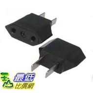 [玉山最低比價網]  轉換插座插頭 美規轉接頭 電源轉換器 圓孔轉扁腳 _G49A