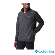 Columbia 哥倫比亞 男款-Omni-HEAT 鋁點保暖刷毛外套-黑色