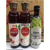 <韓國大媽>韓國 思潮SAJO/CJ  蘋果醋/石榴醋/白葡萄醋 水果醋
