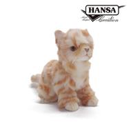 HANSA 小貓(薑黃色)20公分─世界級的擬真玩偶,環保、教育、玩樂兼具