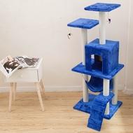 Cat Tree Cat Tree Three-storey Cat Stand Cat Climbing Stand Cat Toys Pet Supplies