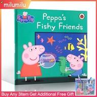 PeppaPigPeppa'sFishyFriendsLadybirdหนังสือต้นฉบับภาษาอังกฤษสำหรับเด็กการศึกษาหนังสือภาพเต่าทอง