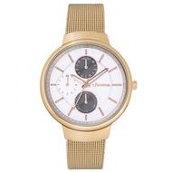 【LICORNE】力抗錶 知性高雅三眼手錶(玫瑰金/白 LT144LRWI)
