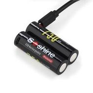 Soshine - 14500/AA 750mAh保護板USB直充 3.7V充電鋰電池 2粒連盒