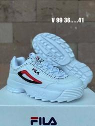 ถูก100% รองเท้าFila SIZE: 36-41(มี10 สไตล์)  [พร้อมกล่องและใบเสร็จ] รองเท้า รองเท้าลำลอง รองเท้าผ้าใบชาย/หญิง รองเท้าวิ่ง(นำเข้า)