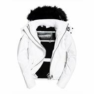 美國百分百【Superdry】極度乾燥 風衣 連帽外套 皮草刷毛防風 Sherpa 夾克 攻擊者 白色 女XS-M號 I745