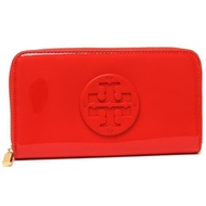 Tory Burch Patent Leather Continental Wallet (Orange)