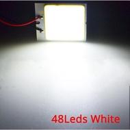 2x สีขาว T10 W5w C5w 24 36 48smd จอ Cob Led Auto Auto อ่านแผนที่แผงโคมไฟโดมระย้า Ba9s 3อะแดปเตอร์ Dc 12V Auto Led