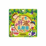 日本 UNIMAT RIKEN 兒童營養補給 葡萄 100粒/包 魚肝油 乳酸菌 維生素 軟糖【特價】§異國精品§