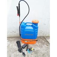 Oo晴天oO 16L電動噴霧器 農用打藥機 背負式噴霧器 防疫消毒機16公升 電動的卡省力