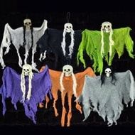 Classic Halloween Costumes KTV bar decorate terrorist skeleton large hung ghost Halloween Mask scary witch prop chamber of escape haunted house decor