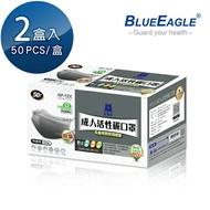 【愛挖寶】藍鷹牌 NP-12X*2 成人平面活性碳防塵口罩 50片*2盒
