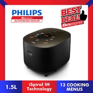 Philips HD4535 IH 1.5kg Rice Cooker Avance Collection with 13 Cooking Menus ( HD4535/62 )