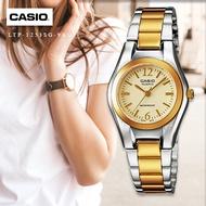 Velashop นาฬิกาข้อมือผู้หญิง Casio สายสแตนเลส 2 กษัตริย์  รุ่น LTP-1253SG-9ADF, LTP-1253SG-9A, LTP-1253SG