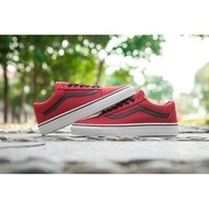 Vans_ Old skool Classic Red Black Fashion Shoes