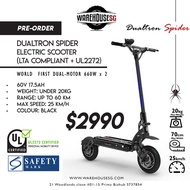 DUALTRON SPIDER ELECTRICAL SCOOTER E-SCOOTER (UL2272 CERTIFIED) FOR PREORDER