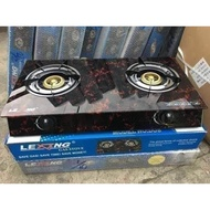 LEXING GAS STOVE DOUBLE BURNER
