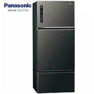 Panasonic 國際 NR-C489TV-K  星空黑  481L 三門冰箱ECONAVI 智慧節能科技 無邊框鋼板系列 變頻 新1級能源效率 Ag銀除菌