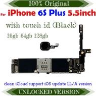 ปลดล็อคสำหรับiPhone 6S Plusเมนบอร์ดไม่มี/ลายนิ้วมือสำหรับIphone 6S 5.5นิ้วLogicบอร์ดสนับสนุนระบบUpdate