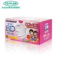 立體口罩 MASK 女生 小孩 可用 日本進口 50枚入