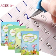 4 Books Children Copybook Handwrite Practic Reusable Book Magic Books For Calligraphy Write Book English Letter Drawing Set
