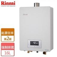 【【林內】16公升 強制排氣恆溫熱水器 - 部分地區含基本安裝(RUA-C1620WF)