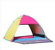 免運 防曬全自動帳篷戶外34人1秒速開免搭建露營家庭2人沙灘帳篷