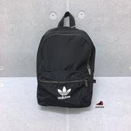 adidas Originals 三葉草 後背包 男女款 尼龍 黑色 ED4725 Sneakers542