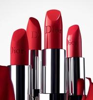 DIOR / Dior Lipstick Intense Blue Gold Lipstick 999 Matte Dior Lipstick Intense Blue Gold Lipstick ลิปสติก 999 Dior ลิปบาลม์ที่ฟ้าโกลว์ #999#888 3.5 g สีแดงรุ่นคลาสสิค (สีแดง สีติดทนนาน)