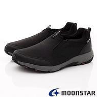 日本Moonstar戶外健走鞋-4E寬楦防水戶外鞋款-046黑(男段)