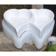水泥盆矽膠模具心心相印水泥盆矽膠模具 多肉植物花盆