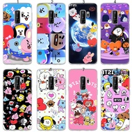 Phone Case for Samsung Galaxy A7 A8 A9 2018 S10 Plus S10e Cover BTS BT21 lovely