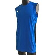 【NIKE 耐吉】Nike AS M League REV Tank 男 籃球 背心 透氣 單面 長版 藍黑(839436-406)