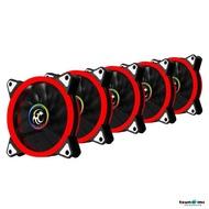 Tsunami Double Riing Series Dual-Rim LED 12CM cooling fan X5