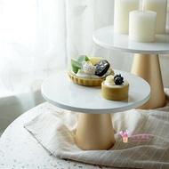 蛋糕架 風蛋糕盤北歐風格拍照道具盤 甜品台高腳托盤 高腳首飾盤T 2色