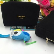 ✨新款💚Chanel 牌小香風化妝包‼️ 歐美精品 香水專櫃贈品 小香風化妝包 雜誌贈品 攜便式手拿包💕
