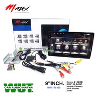mmax เครื่องเสียงรถยนต์ จอติดรถยนต์ จอแอนดรอย 9นิ้ว สเปค(8core Ram 2GB Rom32GB) /Dsp32band /apple carplay mmax รุ่น mrc-t5360