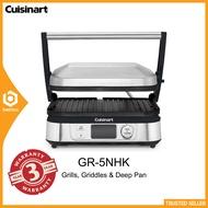 Cuisinart GR5NHK / GR5N Grill Five & Deep Pan (5 in 1) Griddler / Panini Press with Digital Display 1750W