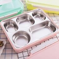 保溫飯盒 304不銹鋼保溫飯盒成人大容量分格餐盒學生便當盒長方形配餐具【韓國時尚週】