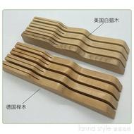 廠家創意實木臥式抽屜式刀架廚房橫放櫸木菜刀座置物架刀具收納盒   YDL